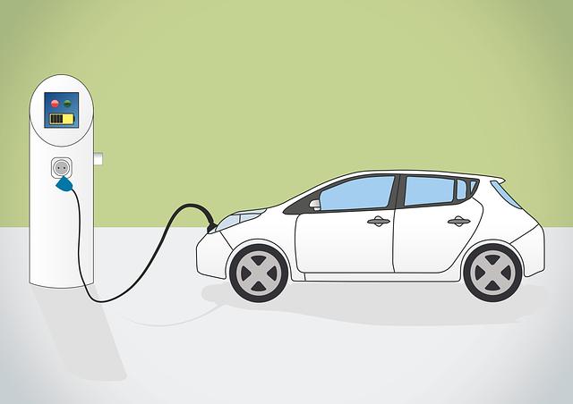 elektrické auto a nabíjecí stanice