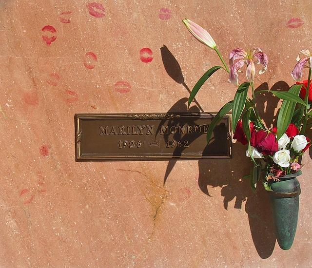 hrob marilyn monroe